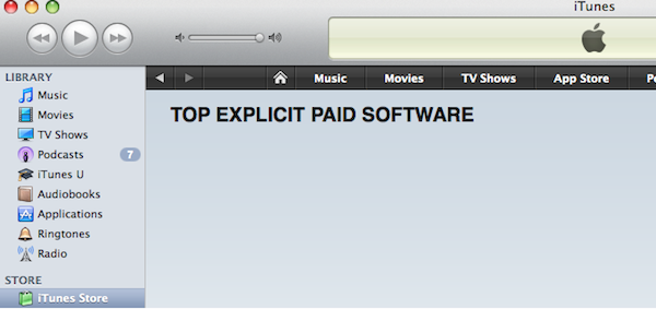 App Store Top Explicit Paid Software