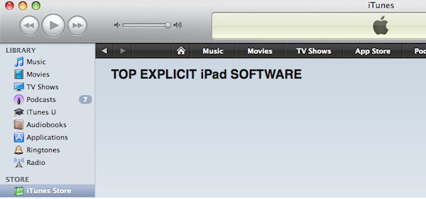 App Store Top Explicit iPad Software