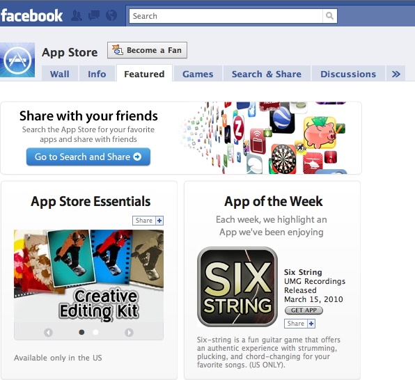 Official App Store Facebook Page