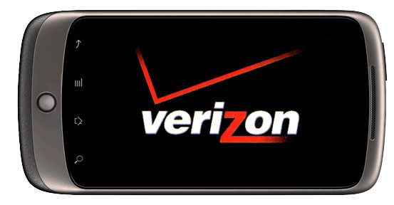 verizon logo and nexus one