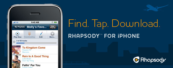 Apple allows Rhapsody download feature on iPhone for offline listening