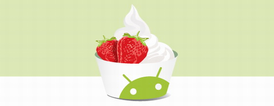 android 2.2 froyo cup logo