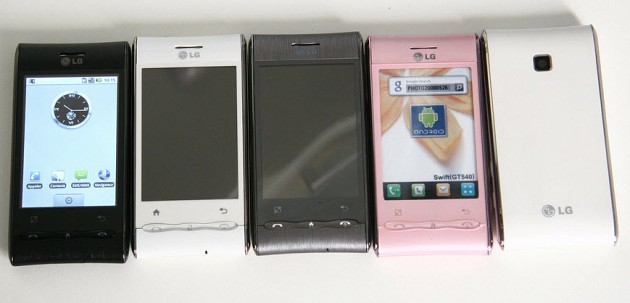 all colors LG optimus phone