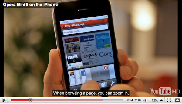Opera Mini 5 for iPhone Approved by Apple for App Store
