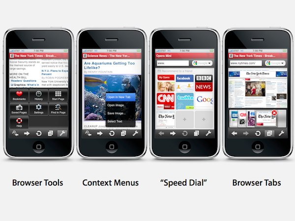 Opera Mini app for iPhone
