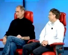 Steve Jobs and Bill Gates at All Things Digital Conference 2007
