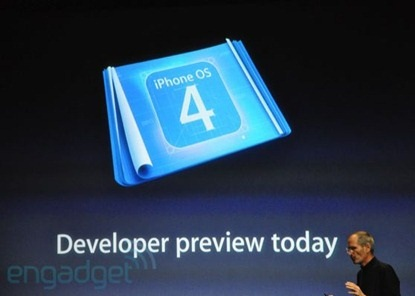 iPhone OS 4.0 Developers Preview