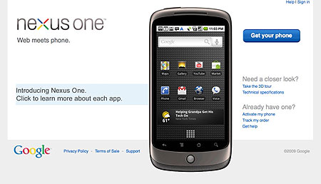 no nexus one on verizon image