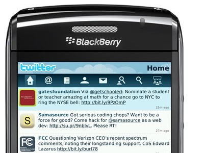 twitter blackberry app
