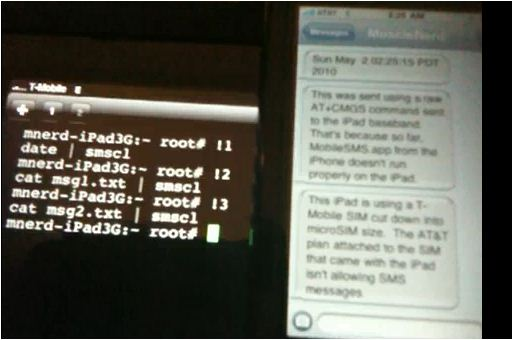 Ipad 3G text message
