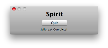 Spirit Jailbreak Completed