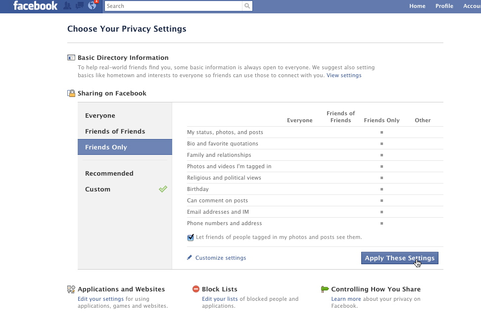 facebook security features how-to