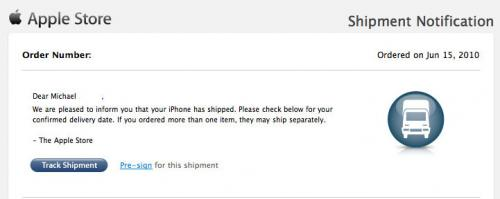 iphone 4g ships
