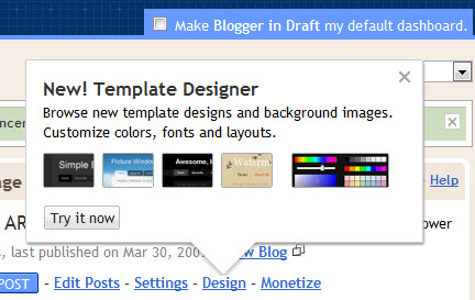 Blogger Template Desinger