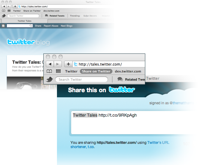 Twitter Bookmarklet Button