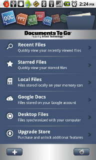 Documents To Go 3.0 Android Market
