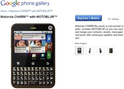 Motorola Charm On Google Phone Gallery