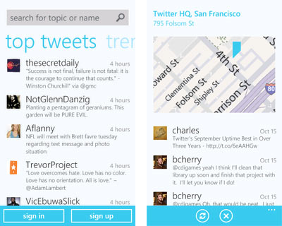Twitter App For Windows Phone 7