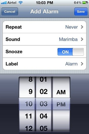 iPhone Alarm Clock App