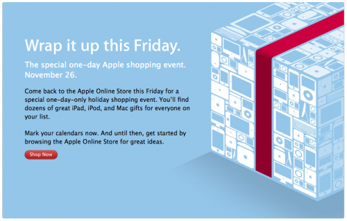 Apple Black Friday Teaser