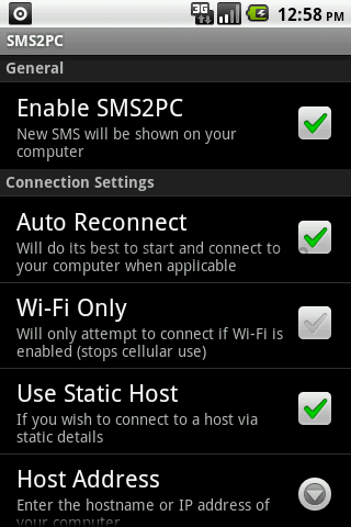 SMS2PC screen