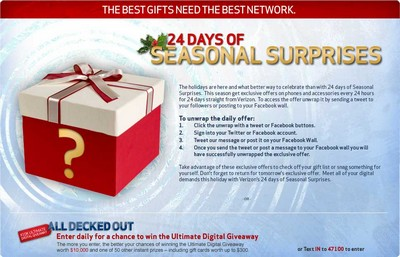 Verizon Wireless Seasonal Surprises