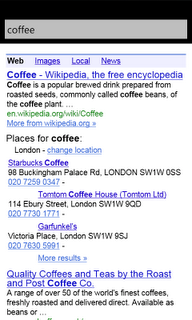 Google Search app on Windows Phone 7