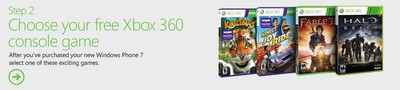 Windows Phone 7 Promotion XBox 360 games