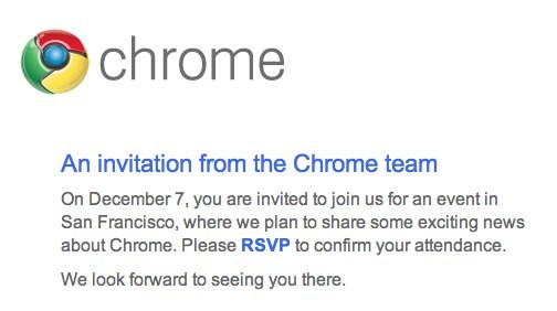 chrome event invite