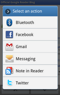 Google reader android app send pic
