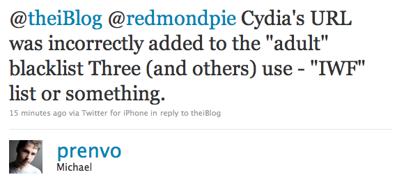 Why Cydia was blocked.