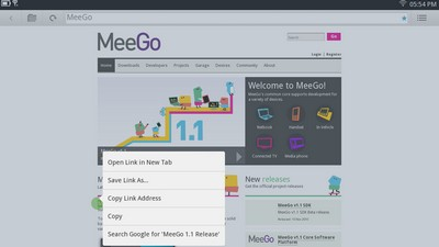 MeeGo Interface