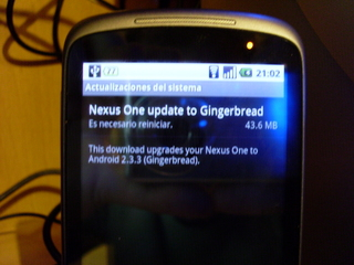 Nexus One Android 2.3.3