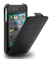 Mivizu Verizon iPhone 4 Croc Leather Case