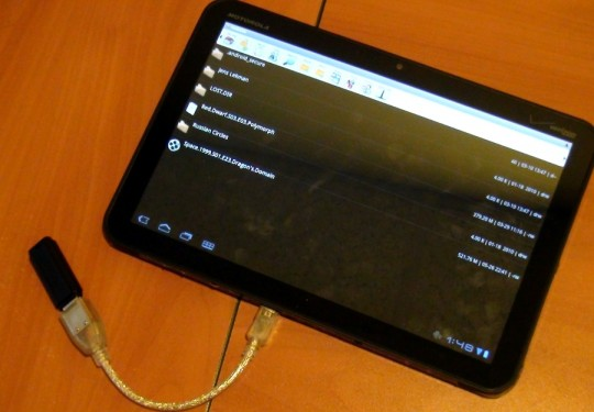 Motorola XOOM USB Feature