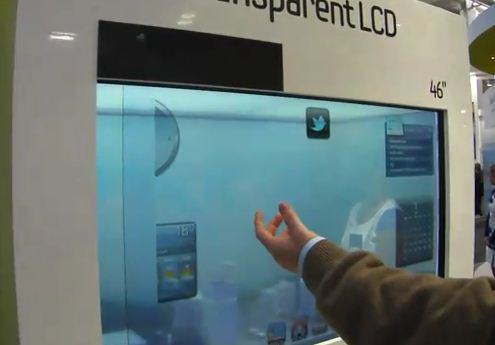 Samsung Transparent LCD Panel with Ambient Light