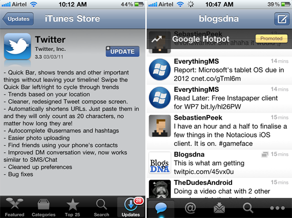 Twitter for iPhone 3.3