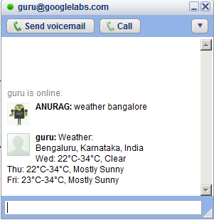 Ask questions via IM and mobile with Google Talk Guru