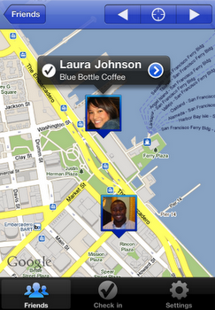 Google latitude on iPhone