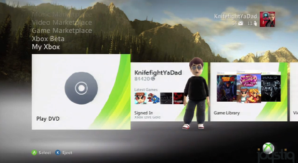 xbox 360 3rd generation dashboard